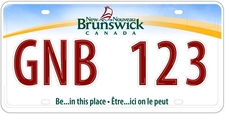 New New Brunswick License Plates