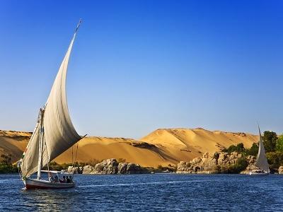Nile At Aswan - Egypt