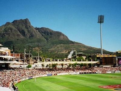 Devil's Peak As Seen From Newlands Cricket Ground
