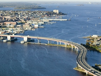 Old Port With Casco Bay Bridge - Portland ME