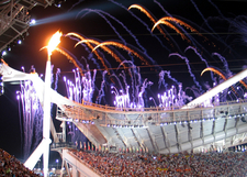 Olympic Flame At Opening Ceremony