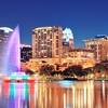 Orlando Downtown From Lake Eola FL
