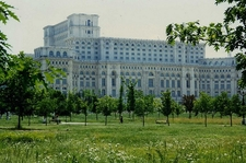 Palace Of The Parliament From Garden - Bucharest