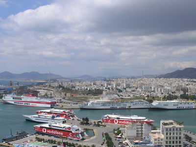Panoramic View Of The Western Part Of The City And The Port Of P
