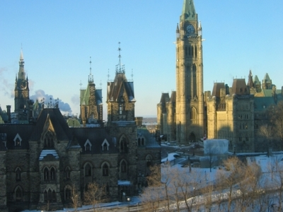 Parliament  Hill In  Winter