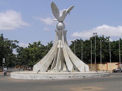 Peace Dove Statue In Lome
