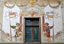 Peles Castle - Sinaia - Courtyard Painting