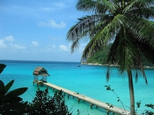 Pier At Perhentian Beach In Malaysia