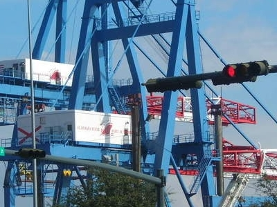 Cranes At The Port Of Mobile