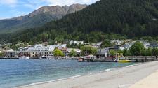 Queenstown From Beach - South Island NZ