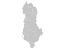 Regional Map Of Albania