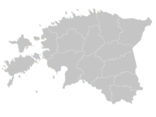 Regional Map Of Estonia