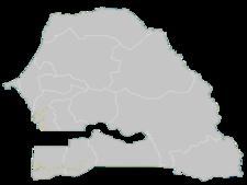 Regional Map Of Senegal