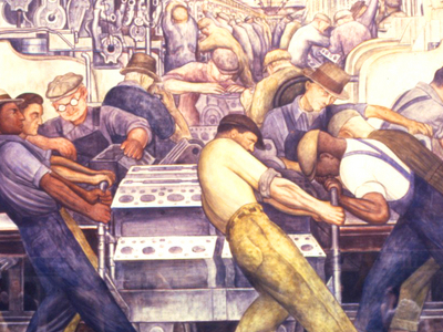 Detail From One Of Rivera's Frescoes