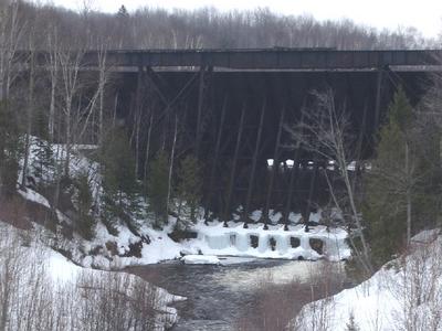 Redridge Steel Dam From Downstream