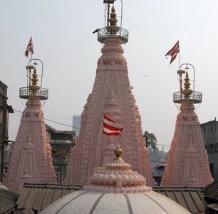 Sabha Mandap Atop The Temple