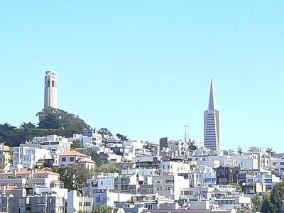 San Francisco Skyline With Coit Tower & Transamerica