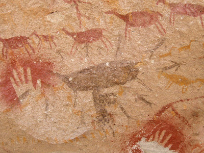 Rock Art In The Cave