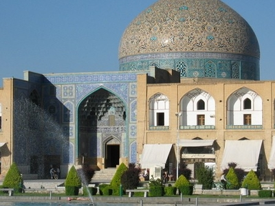 The Lotfollah Mosque On The Opposite Of The Square