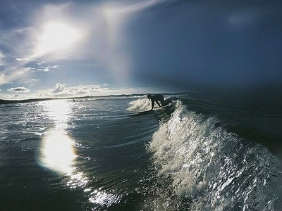 Siargao Surfing On A Sunset