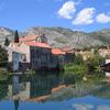 Trebisnjica River And Karst Mountains