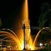 Night View Of A Fountain In Bekapai Park