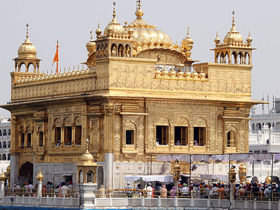 Sri Harmandir Sahib Main Building With Akal Takht Sahib