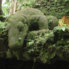 Statue Of A Komodo Dragon In The Ubud Monkey Forest