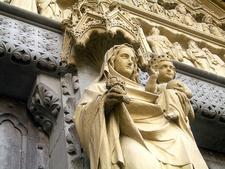 A Statue Of Virgin Mary