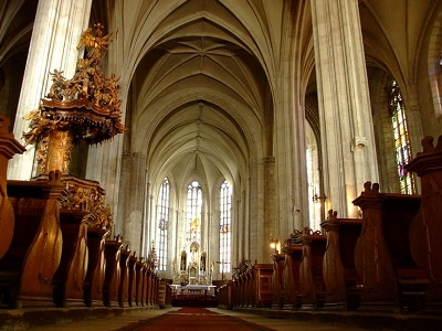 St. Michael's Cathedral In Cluj - Inside View