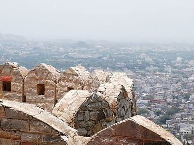 Stone Railing At Nahargarh Fort