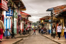 Street In Salento - Quindio Colombia