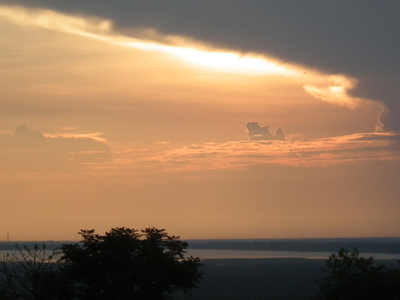 Sunset And Tonl Sap