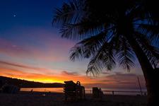 Sunset At Patong Beach Phuket Thailand