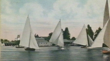 Sailing Boats On The Lake In 1905