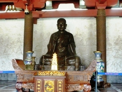 Statue Of Xuanzang In Great Wild Goose Pagoda