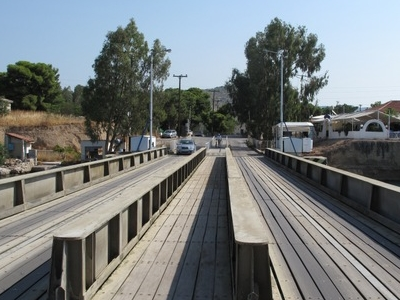 The Submersible Bridge At The Aegean Side Of Canal