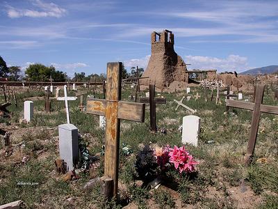 Taos Pueblo Cemetery & Old Church Ruins - New Mexico