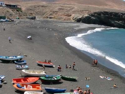 The Black-Sand Beach At Ajuy