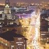The Headrow Leeds City Centre At Night