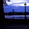 The Riverside In Kampot Town At Dusk