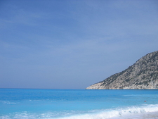 The Sea Has A Bright Turquoise Colour