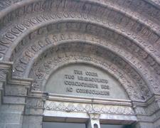 The Tympanum Of The Main Door Of The Basilica