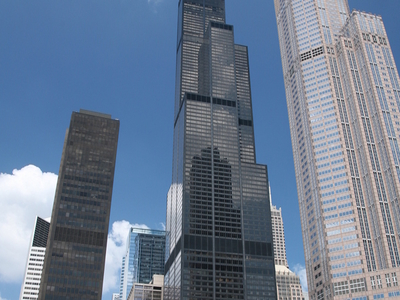 The Willis Tower From Across The Chicago River
