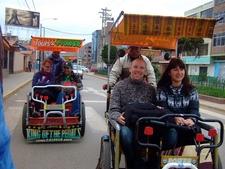 Tourists Enjoying Taxi Ride In Puno City - Peru
