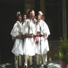 Traditional Male Folk Group Singing In Albania