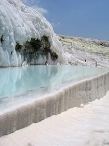 Travertine Hot Springs At Pamukkale