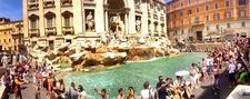 Trevi Fountain Panaroma - Rome