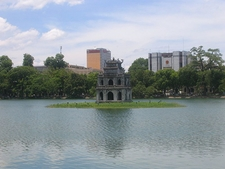 Turtle Tower In The Center Of The Lake