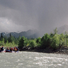 Localised Rain Shower On The River
